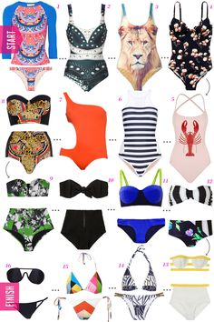 The Bathing Suit Guide —From Most Modest to Most Risqué