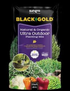 Trust Black Gold® Natural & Organic Ultra Outdoor Planting Mix for all of your outdoor planting needs. Use it to amend the soil when planting annuals, perennials, roses, shrubs, or trees, or add it to large container plantings to provide them with the quality potting soil they need for success. Garden Compost, Garden Soil, Garden Care, Gardening, Tree Mulch, Peat Moss, Types Of Soil, Potting Soil