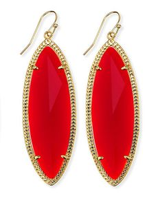 Jessa+Marquise+Earrings,+Red+by+Kendra+Scott+at+Neiman+Marcus.