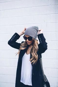 Cooler Styler mit Mütze