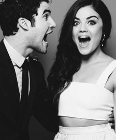 Darren Criss and Lucy Hale