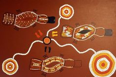 Platypus by Wiradjuri Man, exhibited at the 2015 NAIDOC Week Art Exhibition at Gallery at Southside, Canberra. (Image: ABC/Louise Maher) #indigenous #art #painting #platypus #australia