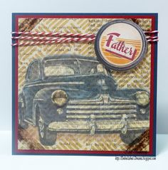Vintage Street Market Fathers Day Card