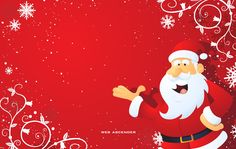 Santa Claus wallpapers will make your computer desktops much funnier for kids. Father Christmas, how Santa Claus is called, is the favorite Christmas symbol for kids. As Christmas approaches, Santa gets really busy as he has to make a list of all the good kids, and then go to their homes, to deliver the presents. Make him already at your home by choosing one of our wallpapers