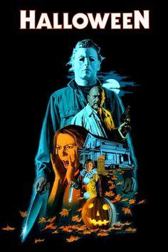 Horror Movie Poster Art : Halloween 1978 by Paul Mann Horror Icons, Horror Movie Posters, Movie Poster Art, Halloween Film, Halloween Horror, Halloween 2018, Halloween Stuff, John Carpenter Halloween, Horror Artwork