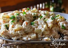 Német krumplisaláta, ahogy anyutól tanultam   Kovacs Dana (Danadi's Kitchen) receptje - Cookpad receptek Naan, Potato Salad, Food And Drink, Potatoes, Ethnic Recipes, Potato