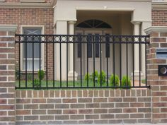 Exteriors ~ Endearing Wrought Iron Fence With Brick Construction ...
