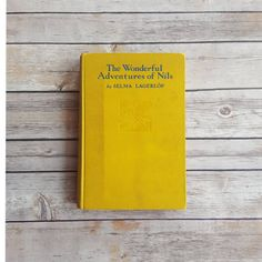 New in The Book Cottage: Swedish Fairy Tale Story | Vintage Yellow Book | 1900s The Wonderful Adventures of Nils | 1907 Rare Folk Tale | Sweden Kids Book on a Farm by TheBookCottage