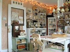 Image result for vintage craft room