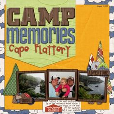 summer scrapbook idea | capturing a summer camping trip? don't forget the scenery!