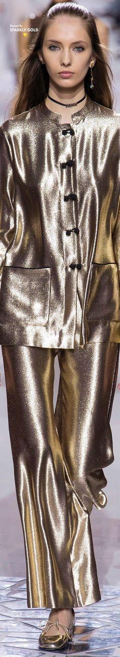 Christian Dior Spring 2018 RTW #Metallics-Gold,Silver,Bronzeetc