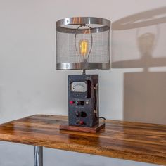 No. 300 - The Vintage Industrial Ammeter Lamp