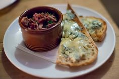 Duck confit with fourme d'ambert & toast