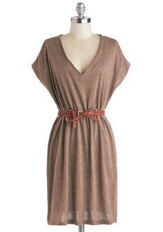 Wheat Belong Together Dress, #ModCloth