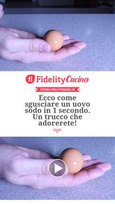 Ecco come sgusciare un uovo sodo in 1 secondo. Un trucco che adorerete! Latte, Design Fields, Trendy Wallpaper, Drops Design, Fabulous Foods, Kefir, Antipasto, Frittata, Problem Solving