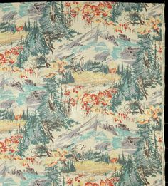 America's National Parks celebrated on silk; Paradise Valley, Mount Rainier Park, Washington; various products to be released in Fall of 2016.