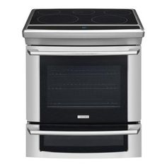 Electrolux Wave-Touch 4.2 cu. ft. Slide-In Double Oven Electric Range with Self-Cleaning Convection Oven in Stainless Steel-EW30ES65GS at The Home Depot