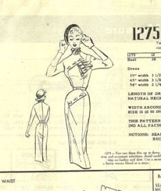 1950's Modes Royal Pattern Retro Dress Pattern by TheIDconnection, $30.00