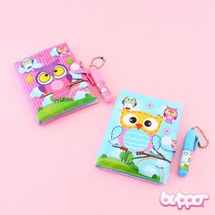 Kawaii Owl Mini Notebook Set