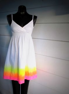 Wobisobi: Neon Sunshine Dress, DIY.