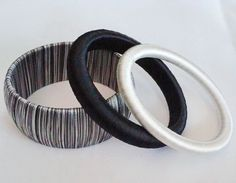 Hand wrap silk thread big bangle set by Thonghattha Silk Thread Bangles Design, Thread Jewellery, Fabric Jewelry, Beaded Necklace Patterns, Jewelry Patterns, Bangles Making, Jewelry Making, Terracota Jewellery, Thread Bracelets