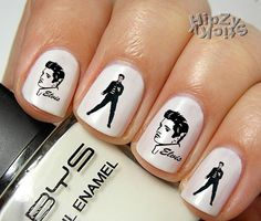 """New """" ELVIS Set 2"""" 20  Quality  Waterslide Water Slide Transfer Nail Art Manicure Decals Custom made by HipZySticKy on Etsy, $2.49"""