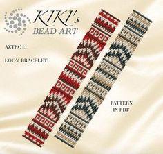 Bead loom pattern Aztec 1 LOOM bracelet PDF pattern instant