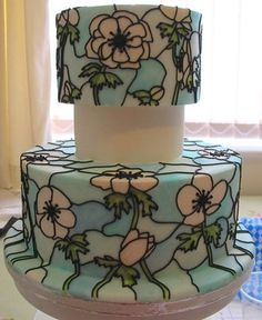 Stained Glass Effect Cake Tutorial - Cake Central Community