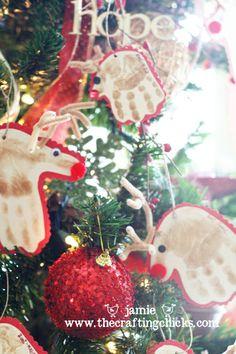 Reindeer Hand Print Ornaments