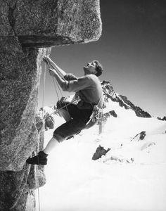 Gaston Rebuffat, par Michel Vaucher, à l'aiguille du Midi