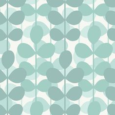 Allen + Roth aqua leaf wallpaper...would be cute in a bathroom above wainscoting