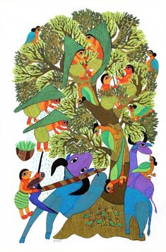Museum Store, New Museum, Gond Painting, Rooster, Kids Rugs, Animals, Coffee, Decor, Art