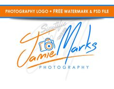 Stylish photography logo  FREE watermark and PSD by Signtific