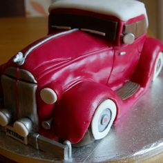 For dads birthday! 3d Cakes, Fondant Cakes, Cupcake Cakes, Cakes For Men, Cakes And More, Motor Cake, Motorcycle Cake, Birthday Sweets, Birthday Cakes
