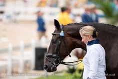 Fiona Bigwood and Othilia at the Olympic dressage trot up