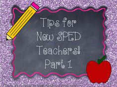 A Special Sparkle: Tips for New Special Education Teachers: Working with paraprofessionals