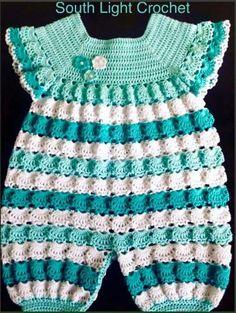 new ideas crochet baby boy free pattern newborns kids Crochet Romper, Crochet Bebe, Baby Girl Crochet, Crochet Baby Clothes, Crochet For Boys, Baby Dress Patterns, Crochet Patterns, Knitting Patterns, Crochet Ideas