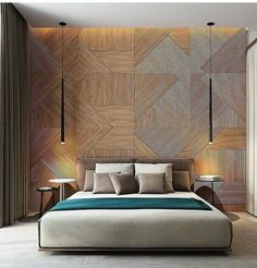 Color combo and wall pattern