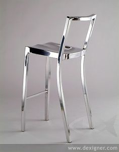 Emeco, the Aluminum Chair Company, will launch a new design by the internationally renowned architect, Philippe Starck, at Milan's 2006 Salone Internazionale del Mobile this April. Luxury Furniture, Modern Furniture, Furniture Design, Home Building Design, Chaise Bar, Philippe Starck, Decoration Design, Bar Stools, Interior Design