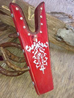 Hand Painted Boot Jack with western silver by WesternSunset