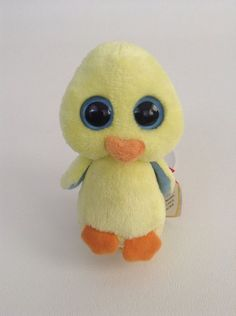 DUCKLING the Duck - MWMT/'s  Easter Stuffed Toy TY Basket Beanie Baby 5 inch