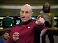 """If we're going to be damned, let's be damned for what we really are."" - Jean Luc Picard (Star Trek)"