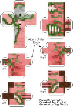 Minecraft Papercraft | Pigman Minecraft Papercraft Mania Pictures                                                                                                                                                                                 もっと見る