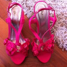 Pink wedge sandals. I've only worn these once or twice. Shoes Sandals