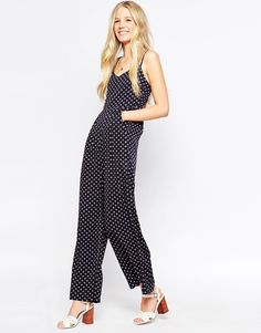 ab92b02fbb Influence Jumpsuit With Strappy Back at asos.com