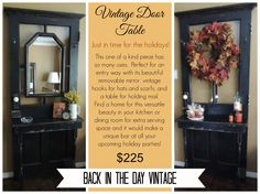 Upcycled vintage door table made by Back In The Day Vintage of Spring, TX  - SOLD