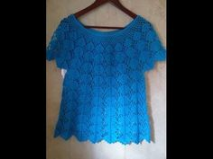 Haz crea y diseña tu ropa blusa de encaje - Make creates your clothes lace blouse Knitting - YouTube