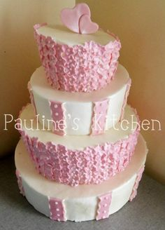 pink and white topsy turvy cake. WANT THIS IN BLUE!!!
