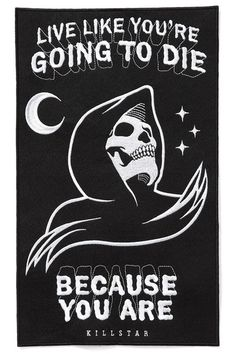KILLSTAR CERTAIN DEATH BACK PATCH - Live like you are going to die! This reaper patch is large and perfect to sew on the back of your favorite denim jacket. The black felt has been embroidered with a reaper and words to live by Schrift Design, Skeleton Art, Funny Skeleton, Back Patch, Grim Reaper, Skull Art, Dark Art, Cool Art, Vintage Ads