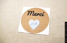 Pack of 80 2 Merci Round Stickers with Mini par OnceUponSupplies, $40.00